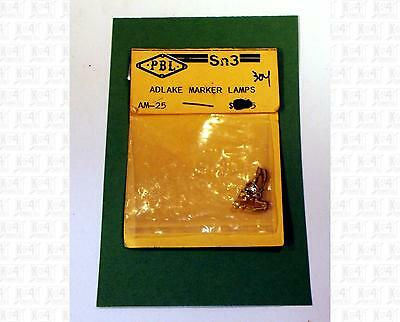 PBL Sn3 Brass Parts: Adlake Marker Lamps AM-25