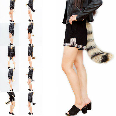 Fake Faux Fur Costume Tail - Fox Wolf Furry Fursuit Cosplay