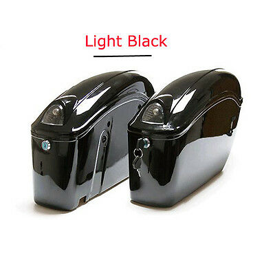 Black Hard Saddlebags Trunk w/Lid & Latch Cover Kit for Harley Touring