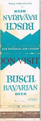 1950s Anheuser Busch Bavarian Beer Mountains Matchcover Tavern Trove