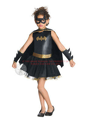 Child 5-7 Years Batgirl Tutu Party Fancy Dress Costume Superhero Batman Kids