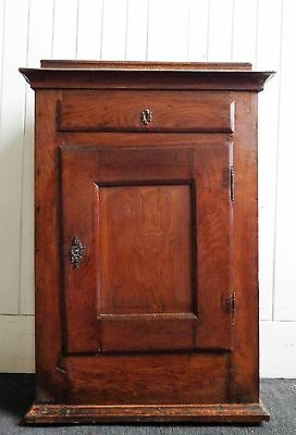 Antique Oak rustic side cupboard / cabinet / bookcase