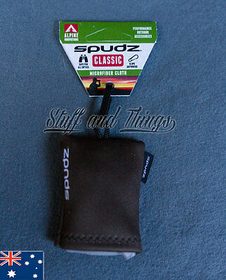 Spudz Classic - Large Size - Microfibre Lens Cleaning Cloth with Pouch - Brown