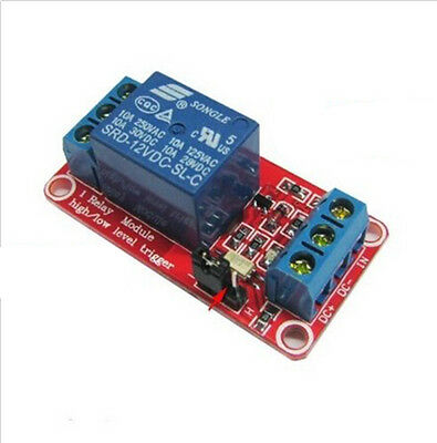 New Reliable 12V 1 channel relay module optocoupler High and low level trigger