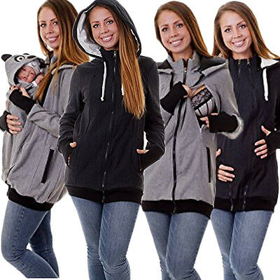4 in 1 Maternity Fleece Hoodie Pullover for Babywearing BABY CARRIERS PLUS SIZE
