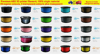 3D Printer Filament ABS 1.75mm 1kg/roll 24 colours Aussie Stock Fast Shipping
