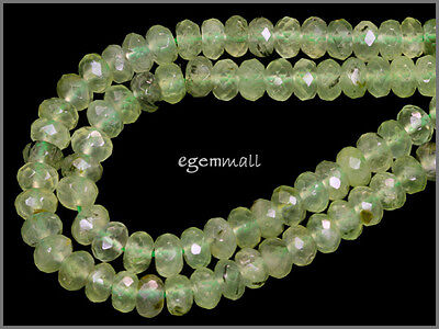 """15.5"""" Prehnite Rondelle Faceted Beads 5x8mm #88026"""
