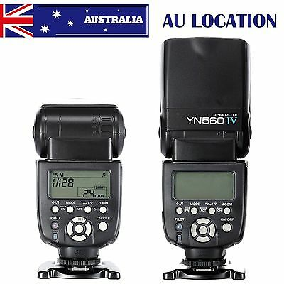 New YONGNUO YN-560 IV Wrieless Speedlite Flash for Canon Nikon Pentax Camera AU