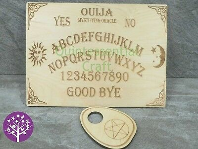 Wooden Engraved Birch Plywood Ouija Board with Planchette
