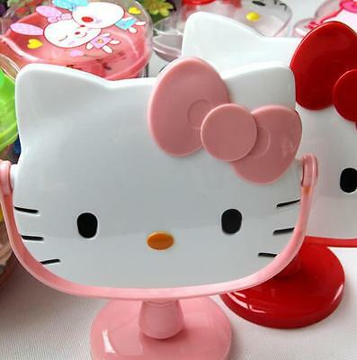 Portable Cute Pink Hello Kitty Desktop Table Compact Make Up New Cosmetic Mirror