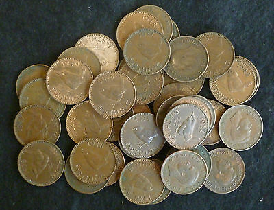 Farthings Bulk Lot Of 40 George VI Wren 1/4d Circulated 1937 - 1952