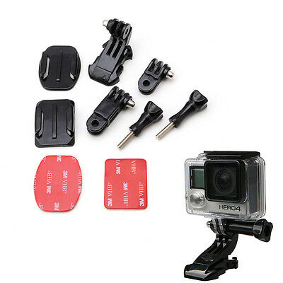 Helmet Front Mount Adhesive Bracket J-Hook Buckle For GoPro HD Hero 4 3 2 Camera