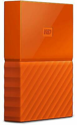 WD My Passport WDBYNN0010BOR-WESN 1TB USB External Hard Drive - Orange