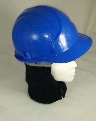 Hard Hat Liner Grey Fleecy Lining Removable Neck Warmer Building Scaffolding
