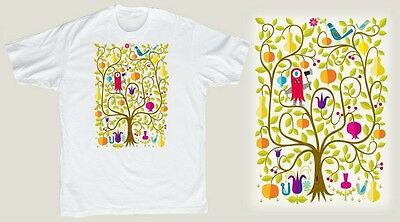 TIM BISKUP 'Tree of Life' Artist Silkscreened Art T-Shirt SMALL Sold-Out **NEW**