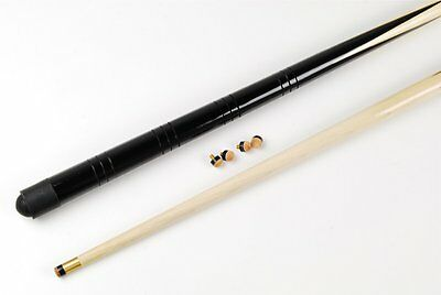 "2 x 36"" ONE PIECE Junior Pool Snooker Cue for Home Tables Kids + 8 FREE 11mm Tip"