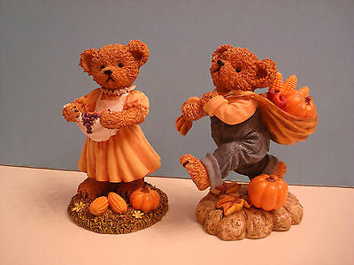 home interiors fall harvest bears