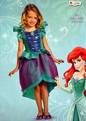 New Disney Little Mermaid Ariel Deluxe Dress-Up Costume Dress Sz Small Disguise