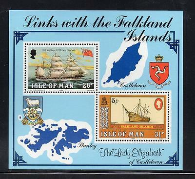 Isle of Man MNH 1984 Links with the Falkland Islands M/S