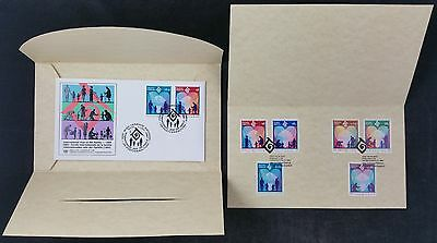United Nations 1994 First Day Cover International Year of the Family in Wallet