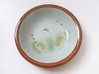 UNUSUAL Dartmouth Pottery art pottery bowl fish decoration