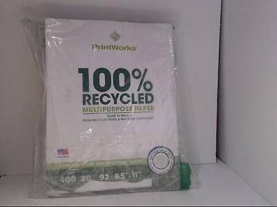 Printworks 100 Percent Recycled Multipurpose Paper, 20 Pound, 92 Bright, 400 she