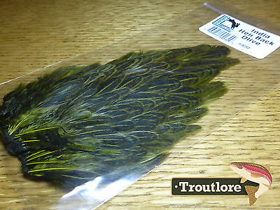 Olive Hareline India Hen Back For Soft Hackle New Fly Tying Cape Feathers