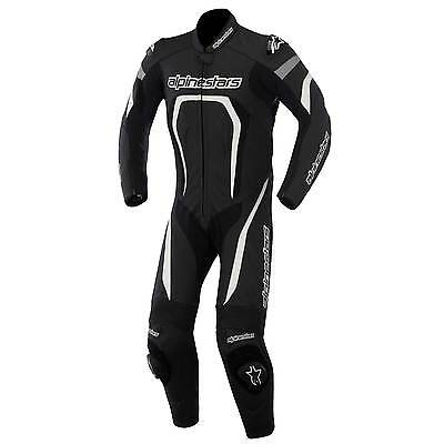 Alpinestars Motegi 1 Piece Leather Motorcycle Suit Black/White - UK 38/Eur 48