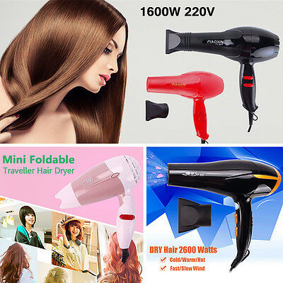 Professional Hair Blow Dryer 1600W Heat Blower Dryer Hot And Cold Wind New Salon