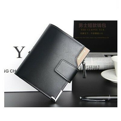 Fashion Men's Wallet Leather Bifold ID Card Holder Clutch Billfold Handbag Purse