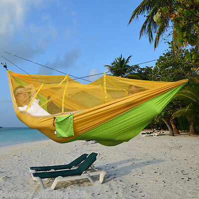 Outdoor Camping Portable Folded Mosquito Net Hammock Hanging Swing Bed