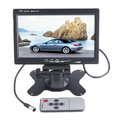 """7"""" TFT LCD Color 2 Video Input Car RearView Headrest Monitor DVD VCR Monitor"""
