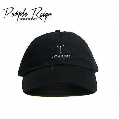 """ITS A KNIFE"" Embroidered Dad Hat (21 savage supreme unsturctured FTP Bape)"