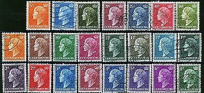Luxembourg Complete Duchess Charlotte Issues of 1948 19 Mainly Used 1 Mint