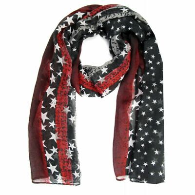Scarf with Star of Stars and Stripes Many Colours