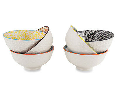 Cooper & Co. New Urban Textured 6 Pack 12cm Bowls Assorted Colour Dinning Soup