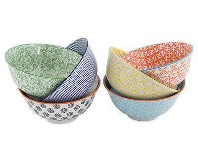 Cooper & Co. 15.5cm Urban Trend 6-Piece Bowl Set Multi Colour Dinning Soup Rice