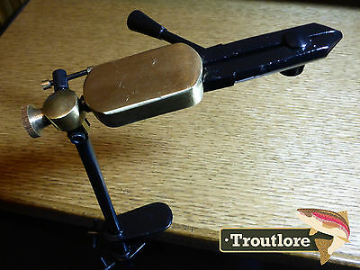SPRING ACTION ROTATING FLY TYING VISE w' CLAMP BASE NEW FLY FISHING TOOL