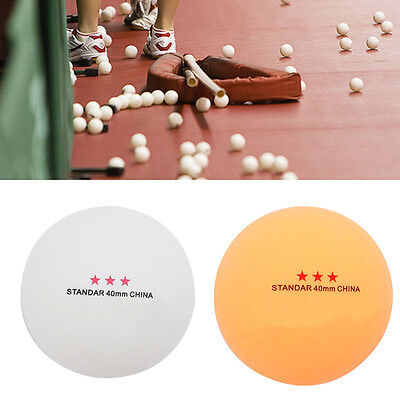 50Pcs 3-Star Standard 40mm Olympic Table Tennis Ping Pong Balls Indoor Games Hot