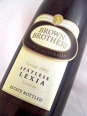 2003 BROWN BROTHERS Spatlese Lexia Isle of Wine