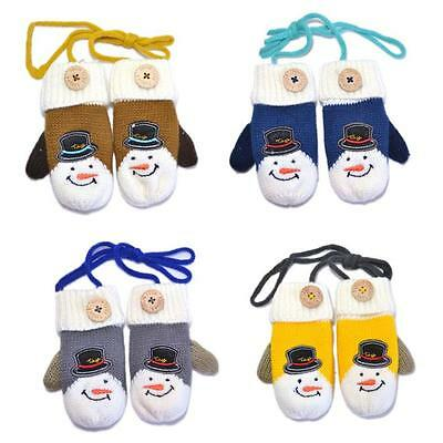 Infant Baby Child Boy Girl Winter Warm Cotton Soft Kids Knitted Mittens Gloves