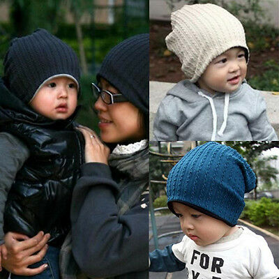 New Baby Kids Beanie Hat Cap Autumn Winter Warm Baby Boy Girls Skull Cap Bonnet