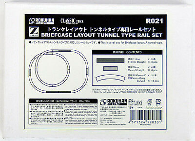 Rokuhan R021 Briefcase Layout Tunnel Type Rail Set (1/220 Z Scale)