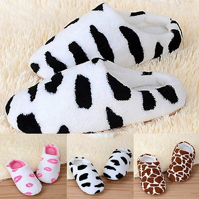Winter Warm Cute Kid Womens Mens Colors Soft Antiskid Indoor Home Cotton Slipper