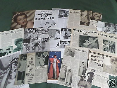 "Kay Kendall - Film Star - ""  Clippings /cuttings Pack """