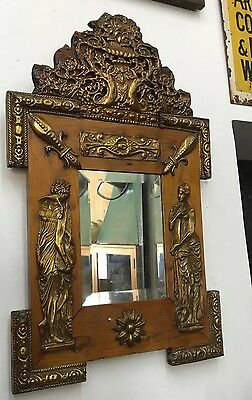 Antique Folk Tramp Art French Neo Classical Mirror Vintage Decorative Arts
