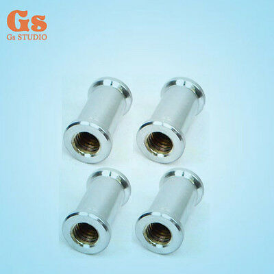 """4pcs 1/4"""" Female to 3/8"""" Female Spigot Conversion Adapter for Tripod Light Stand"""