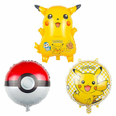 "24"" Giant  Pokemon Pikachu Foil Helium Balloon Birthday Party 65cm BigSale"