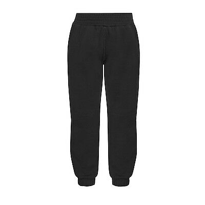 Plain Black Jogging Bottoms Joggers Childrens Boys Girls Sizes  MADE IN UK