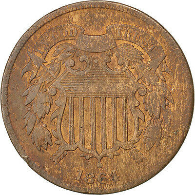 [#59587] UNITED STATES, 2 Cents, 1864, U.S. Mint, KM #94, EF(40-45)